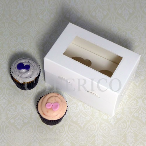 2 Cupcake Window Boxes($1.90/pc x 25 units)