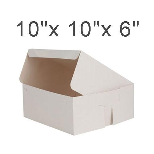 """Cake Boxes - 10"""" x 10"""" x 6"""" ($3.00/pc x 25 units)"""