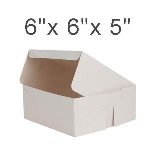 """Cake Boxes - 6"""" x 6"""" x 5"""" ($2.40/pc x 25 units)"""