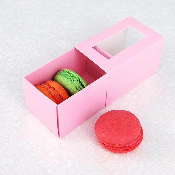3 Pink Macaron Window Boxes($1.85/pc x 25 units)