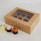 12 Kraft Brown Window MIni Cupcake Box ($3.60/pc x 25 units)