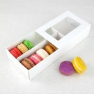 12 Macaron White Window Boxes ($3.50/pc x 25 units)