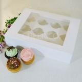 12 Cupcake Window Box w Flexi hole(3.50/pc x 25 units)