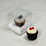 1 Cupcake Clear Mini Cupcake Boxes w White insert($1.50pc x 25 units)