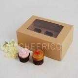 6 Kraft Brown Window MIni Cupcake Box ($2.50/pc x 25 units)