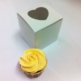 1 Cupcake Top Heart Window Box w flexi hole ($1.40/pc x 50 units)